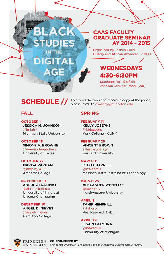Black Studies in the Digital Age Faculty Graduate Seminar FY 2014-2015 Poster