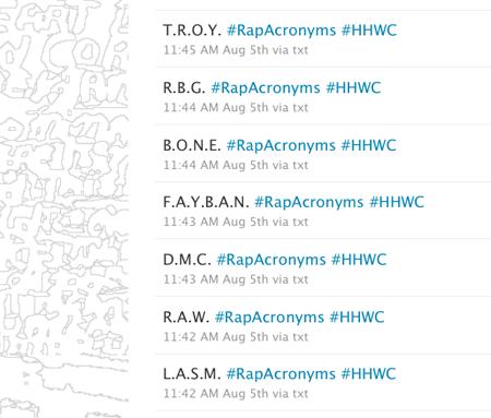 Rap Acronyms